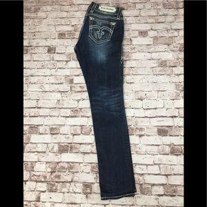 EUC Rock revival Alanis easy skinny jeans